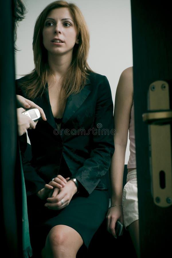 Peeking on gossip royalty free stock photography
