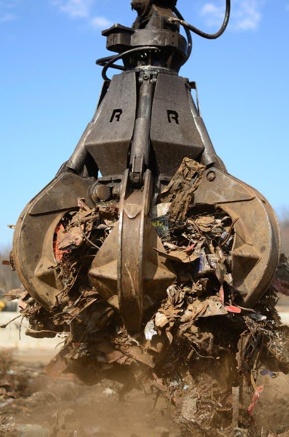 Peel grab for scrap metal stock images