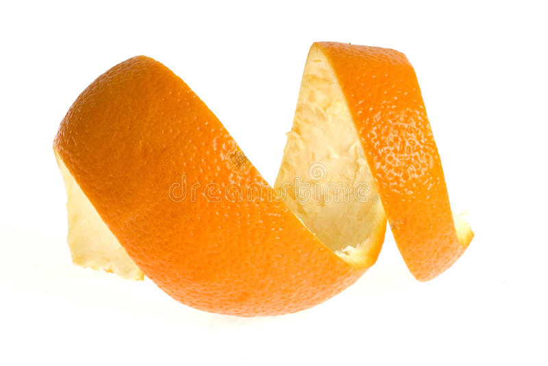 Peel of orange royalty free stock photo