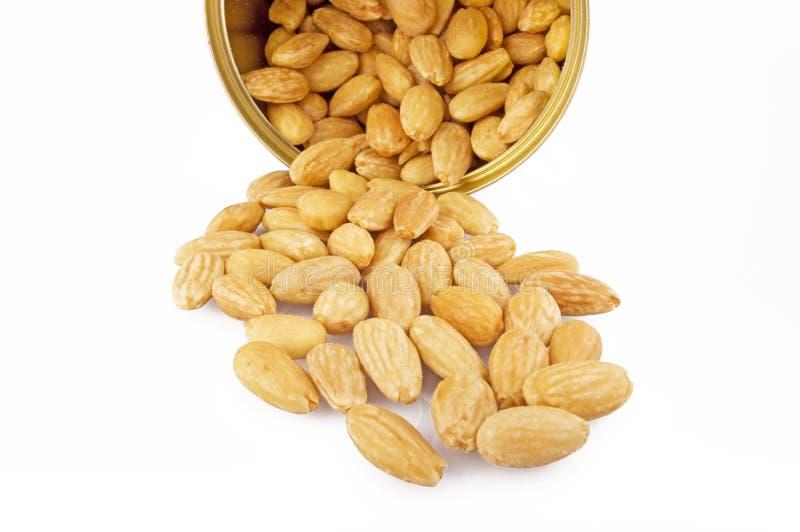peeled almonds royalty free stock photos