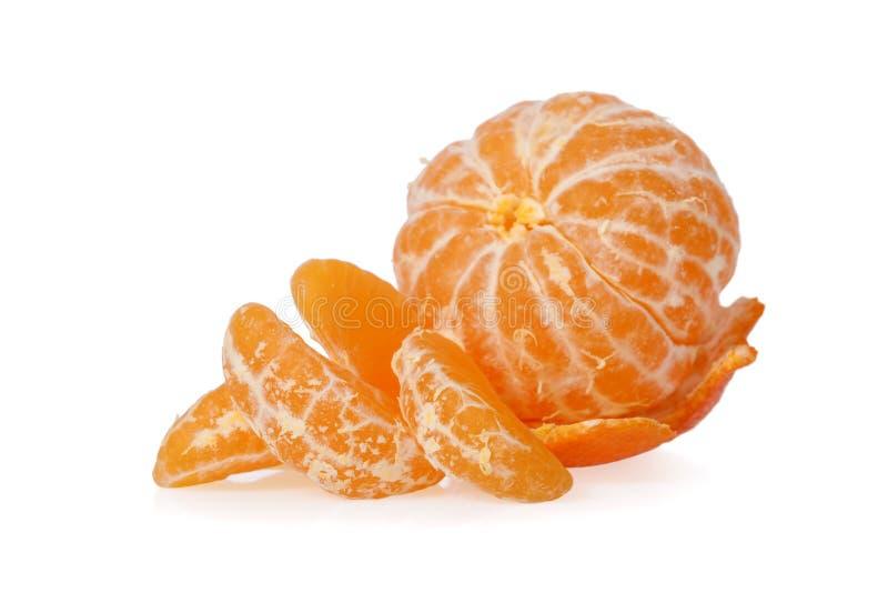 Peeled Clementine isolated. On white background stock photo