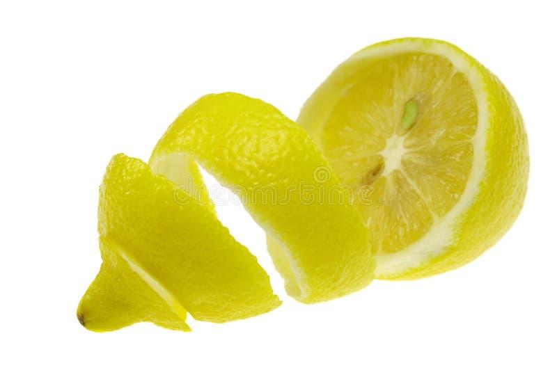 Peeled lemon royalty free stock photos