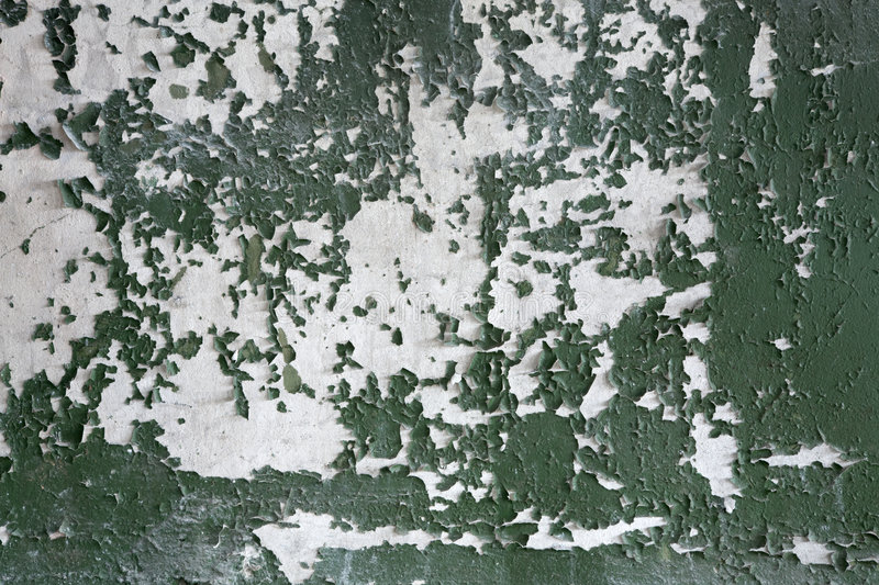 Peeled paint. The painted peeled old wall stock photo