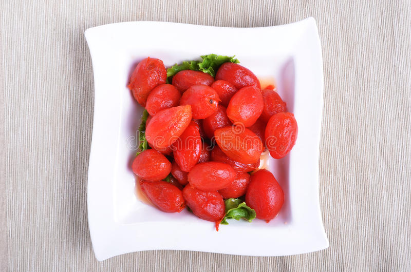 Download Peeled plum tomatoes stock photo. Image of nutrition - 27065946