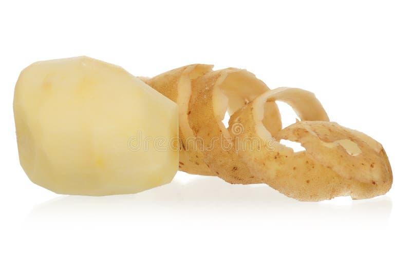 Peeled potato royalty free stock photos