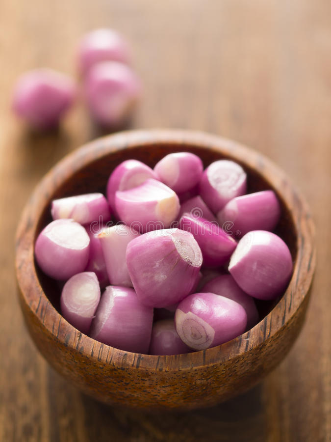 Download Peeled shallots stock image. Image of condiment, shallots - 26104427