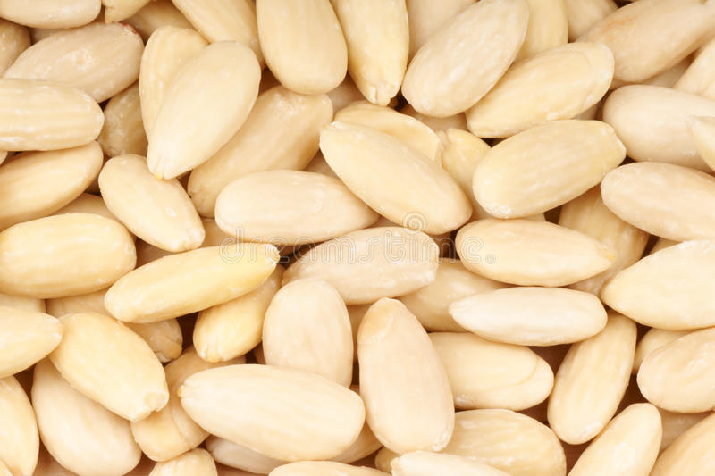 Download Peeled Sweet Almonds Background Stock Photo - Image: 21350790