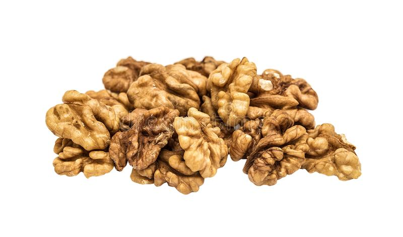 The peeled walnut, Persian walnut stock photo