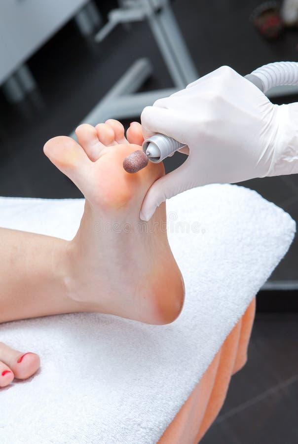 Free Peeling Feet Pedicure Procedure Royalty Free Stock Photo - 25394645