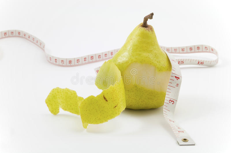 Peeling Off The Pounds Stock Image