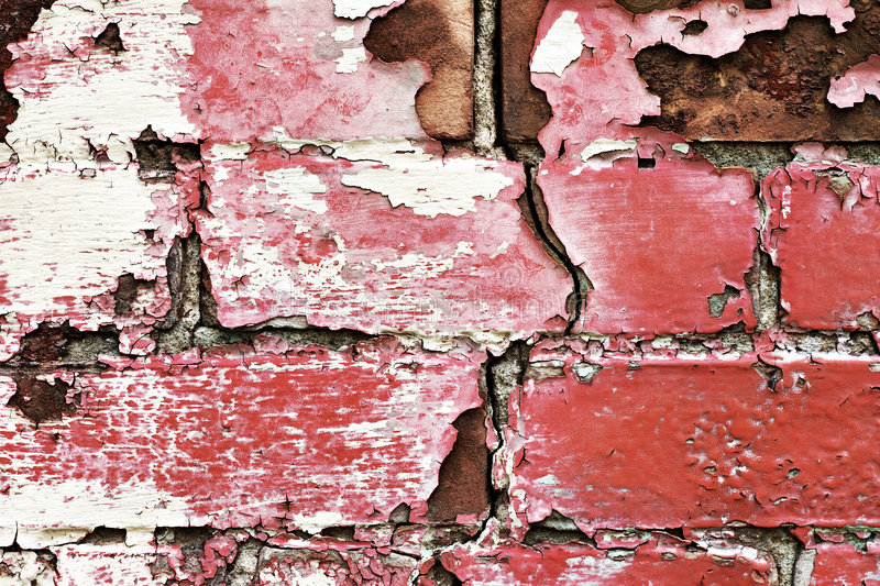 Download Peeling Old Painted Brick Wall Stock Image - Image: 7442629