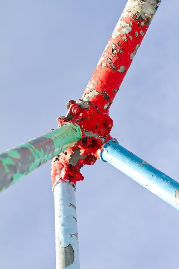 Download Peeling paint stock image. Image of metal, painted, green - 18399123