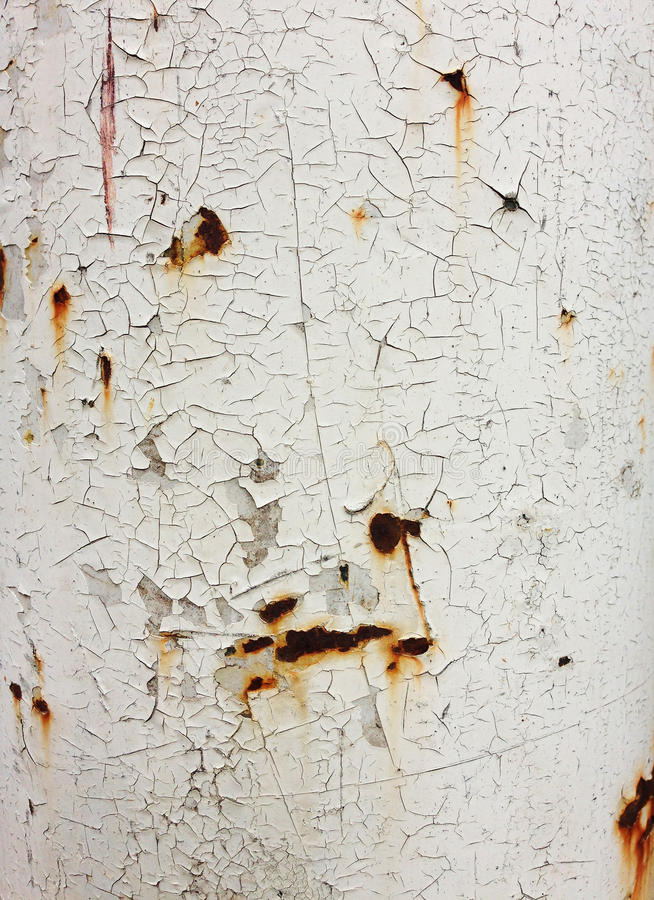 Peeling paint on an old wall stock photo