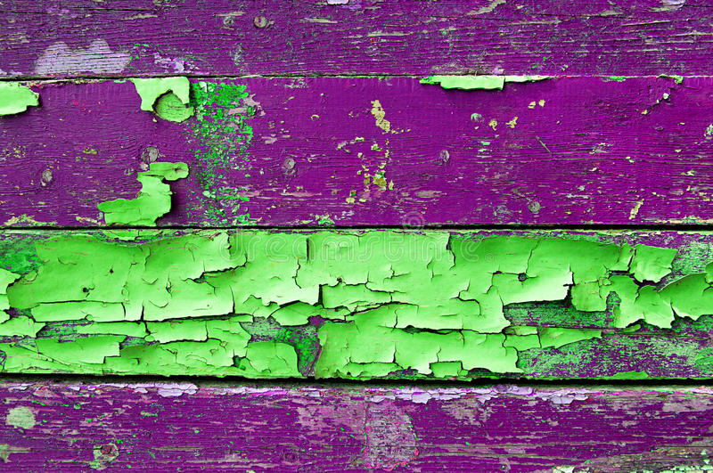 Download Peeling Paint On Old Weathered Wood With Peeling Paint Of Green And Violet Colors- Textured Wooden Background Stock Photo - Image of grunge, color: 79386838