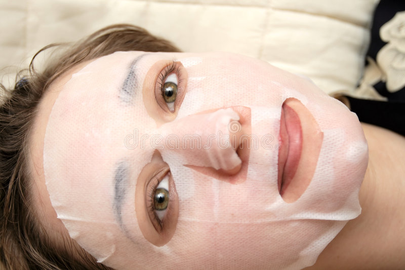 Peeling procedure royalty free stock images