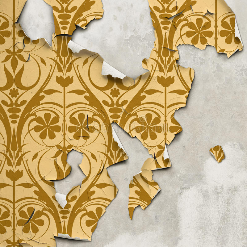 Peeling Wallpaper royalty free illustration