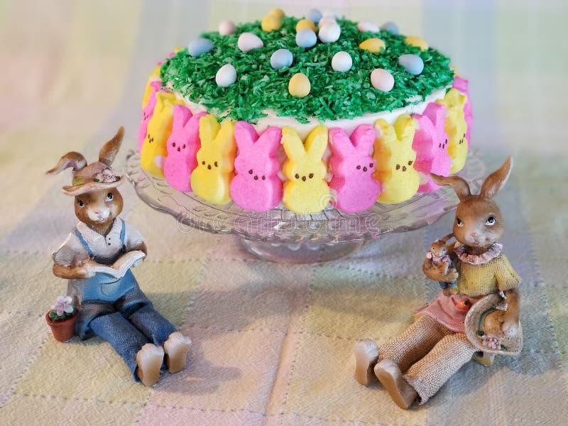Peep cake stock images
