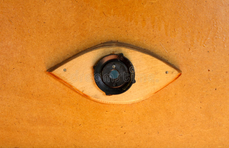 Peephole. The original peephole security see stock image