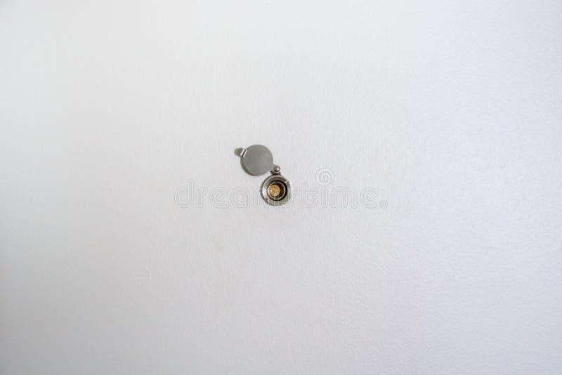 Peepholes de uma porta fotos de stock