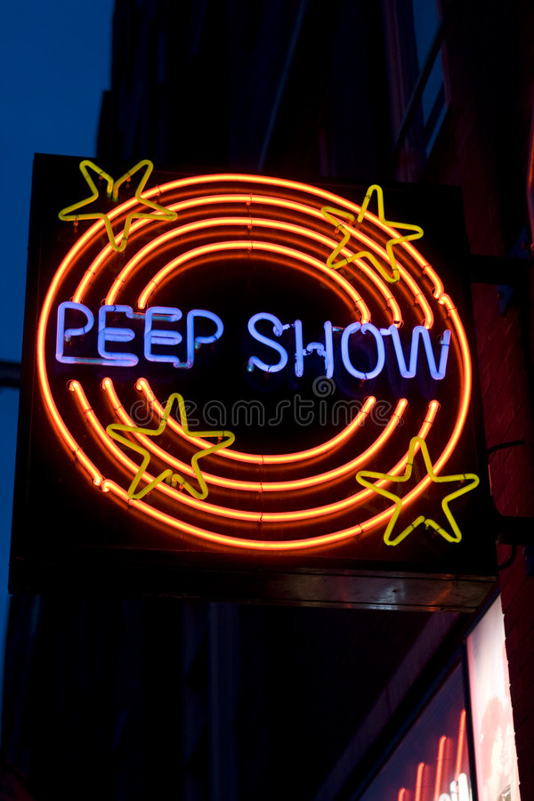 Peepshow sign royalty free stock photos