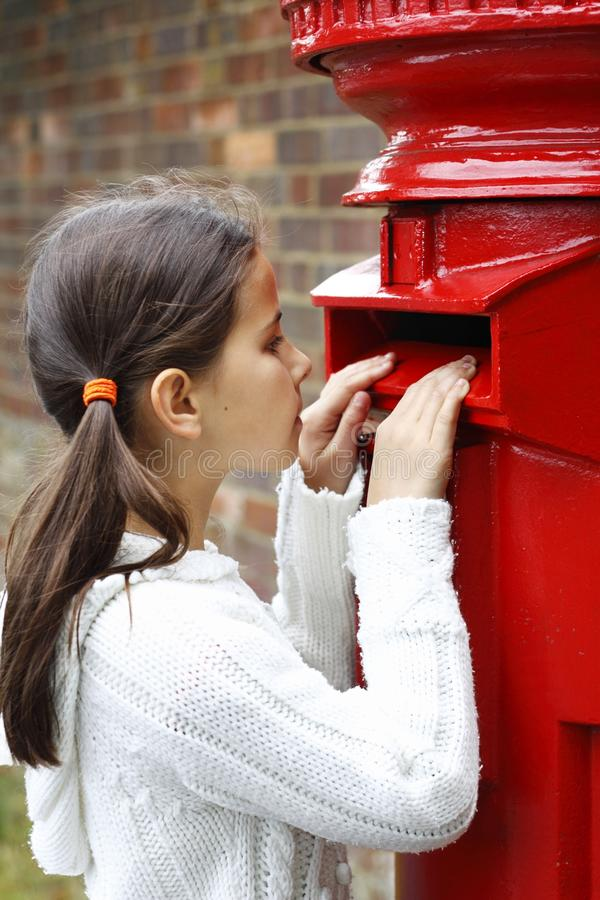 Download Peering into letter box stock photo. Image of communicate - 15798708