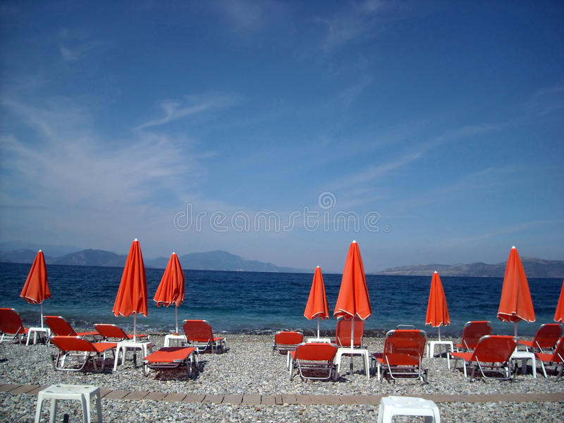 Pefki, Evia Island, Greece stock images
