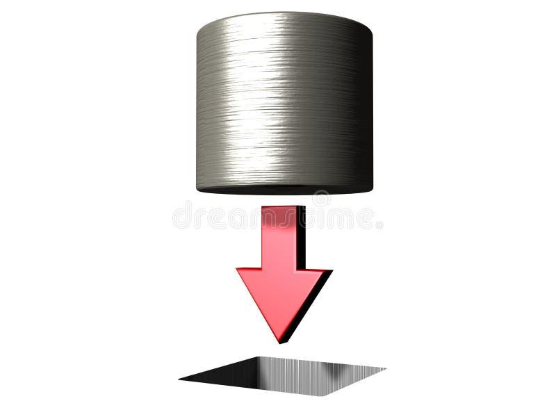 Peg redondo no furo quadrado ilustração stock