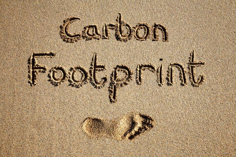 Pegada do carbono. ilustração stock