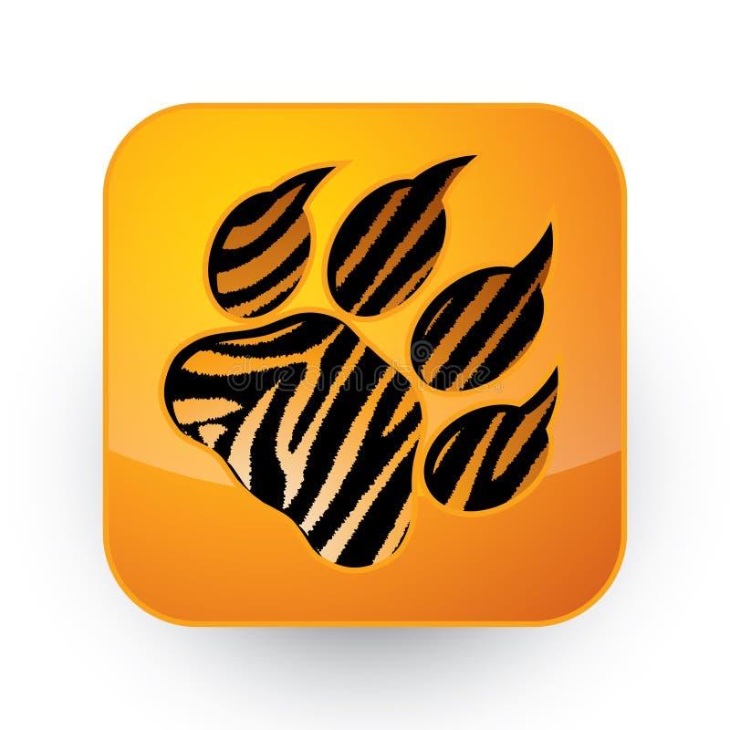 Pegada do tigre ilustração royalty free