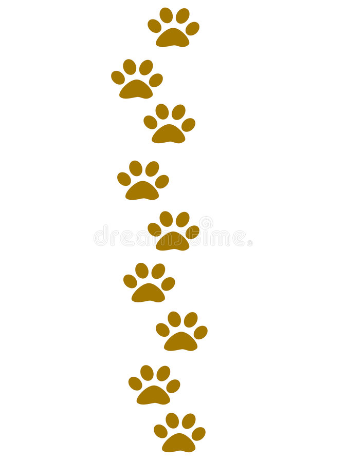 Pegadas animais que vão para cima ilustração royalty free