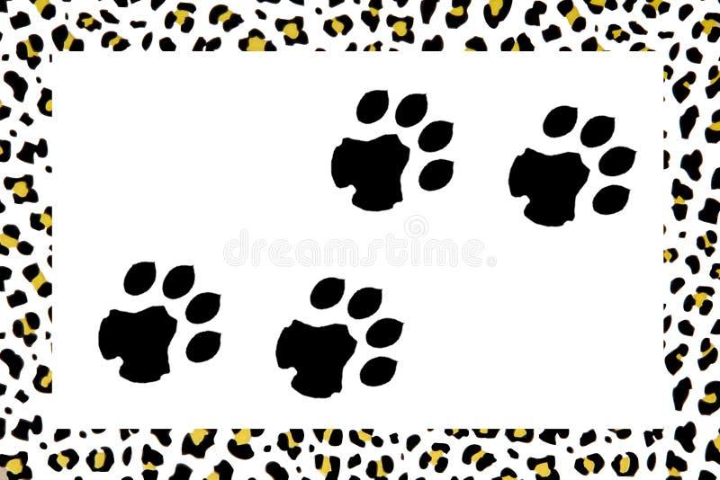 Pegadas do leopardo ilustração royalty free