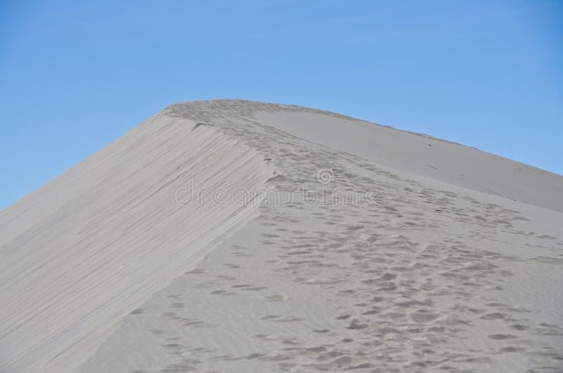 Pegadas na duna de areia imagens de stock royalty free