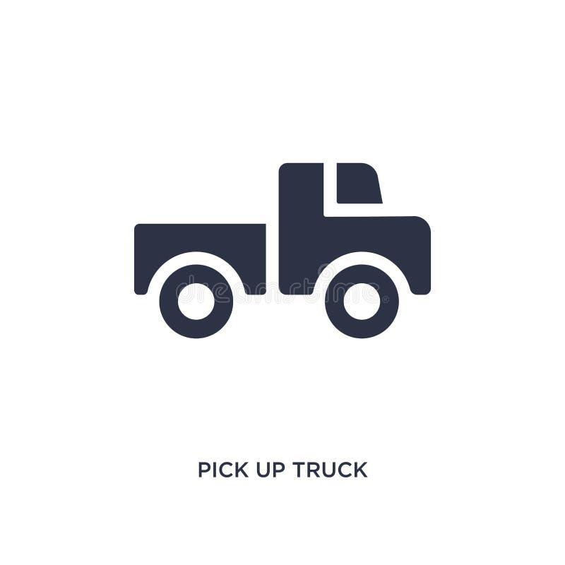 pegare o ícone do caminhão no fundo branco Ilustração simples do elemento do conceito dos mechanicons ilustração royalty free