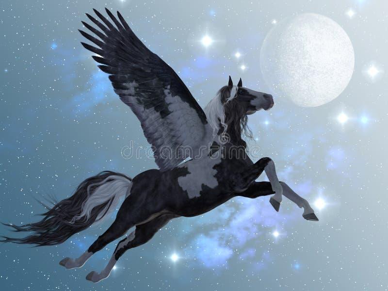 Pegasus 03 stock illustrationer