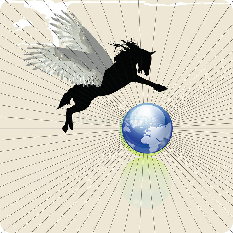 Download Pegasus 1 stock vector. Image of hope, ecology, earth - 13394433