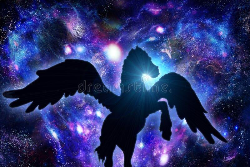 Pegasus ilustração stock