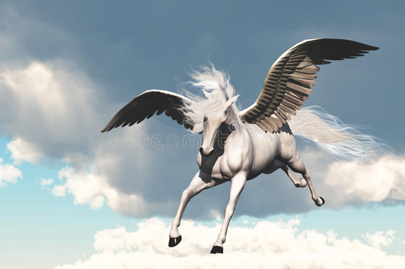 Download Pegasus stock illustration. Image of bronco, horsepower - 13739877