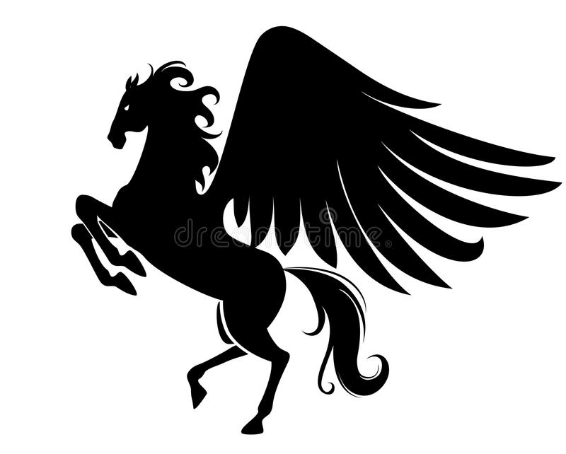 Download Pegasus stock vector. Image of stallion, animal, isolated - 13842902