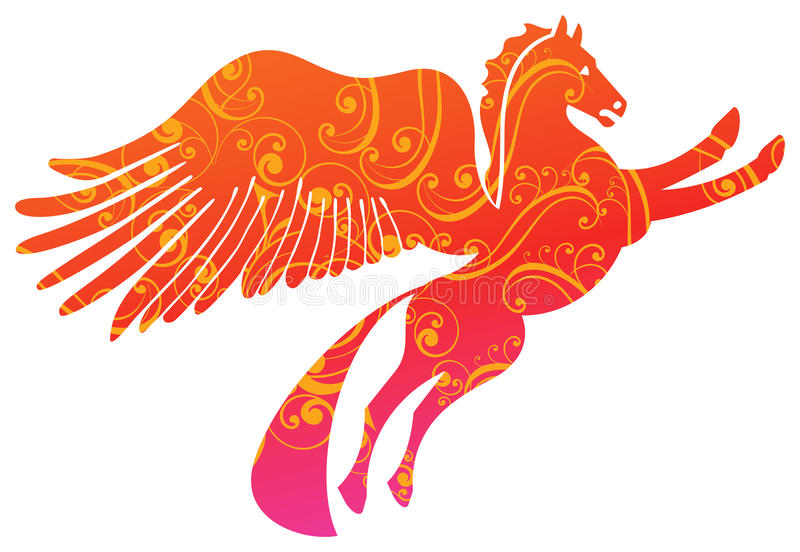 Pegasus. An illustration of the mythological horse Pegasus vector illustration