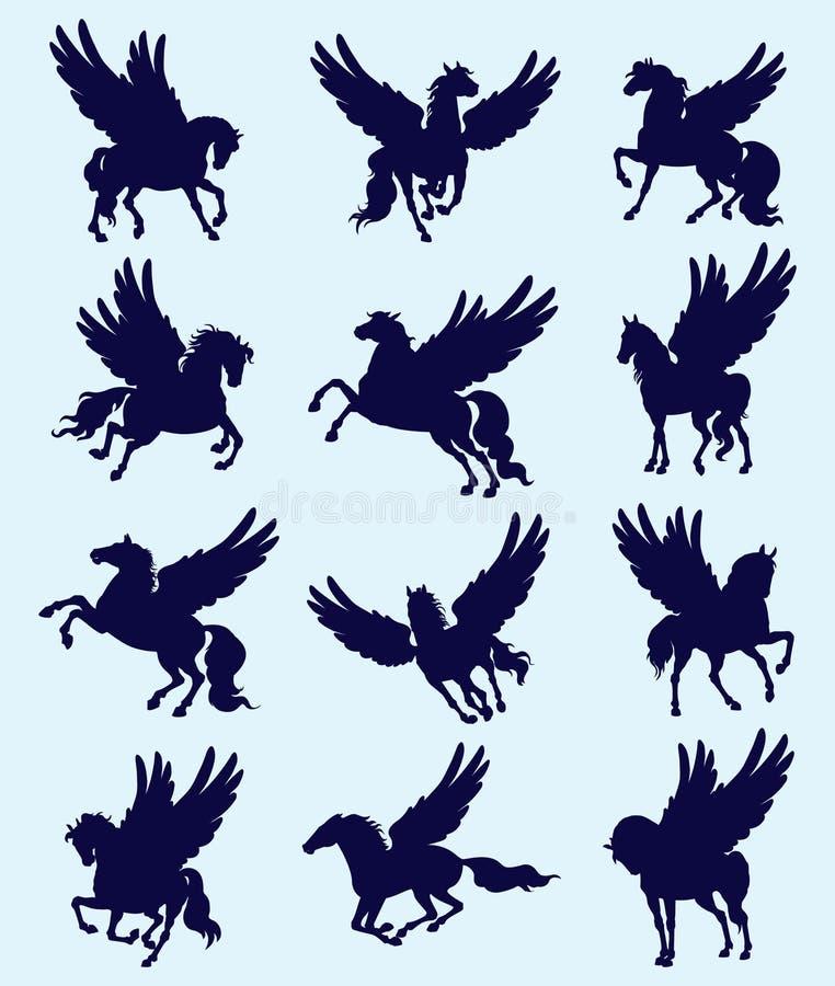 pegasus vektor illustrationer