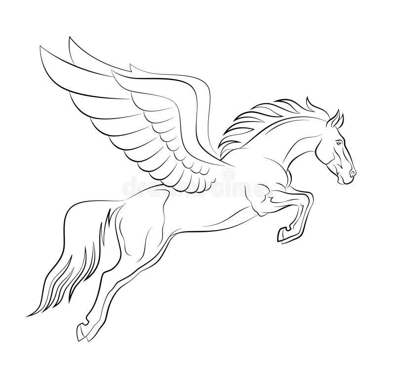 Pegasus stock illustratie