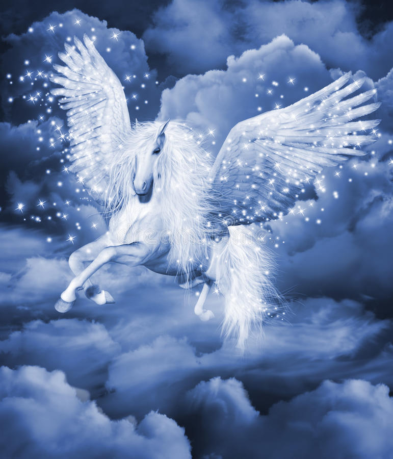 Pegasus royaltyfri illustrationer