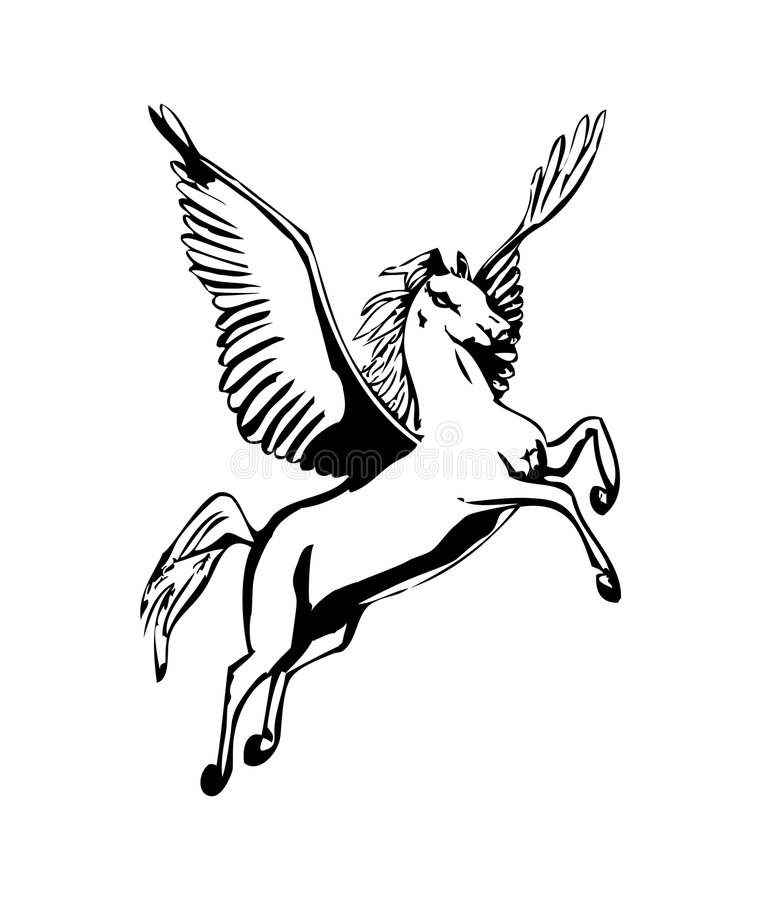 pegasus stock illustrationer