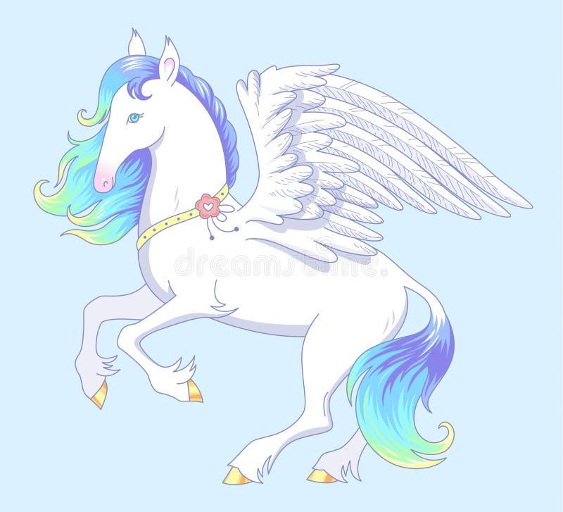 Pegasus branco ilustração do vetor