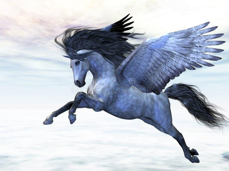 Pegasus de prata ilustração royalty free