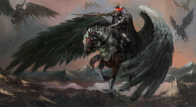 Pegasus escuro ilustração do vetor