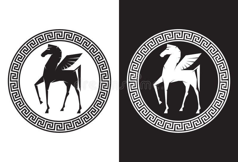 Pegasus flyghästen vektor illustrationer