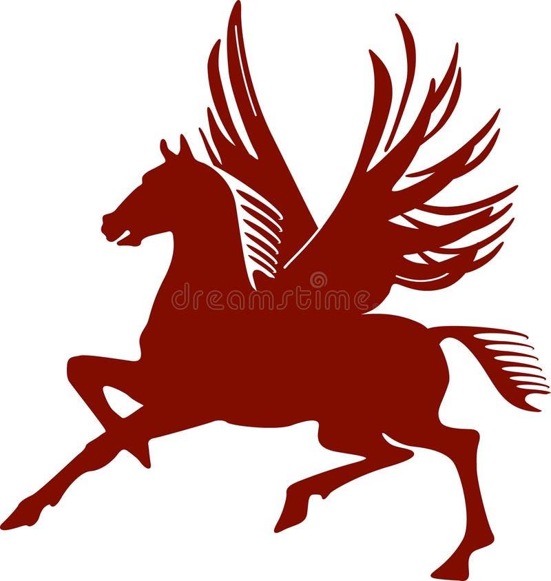 Pegasus, flying horse stock illustration