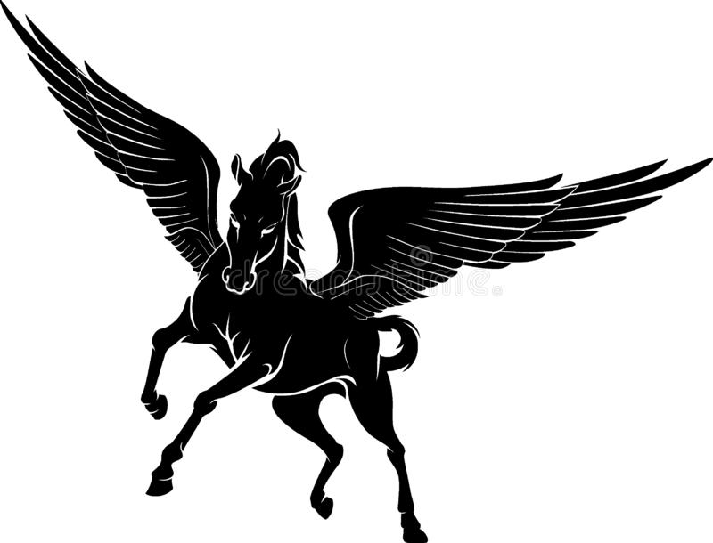 Pegasus Front View illustration libre de droits