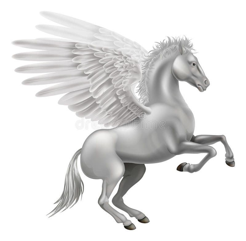 Pegasus häst vektor illustrationer